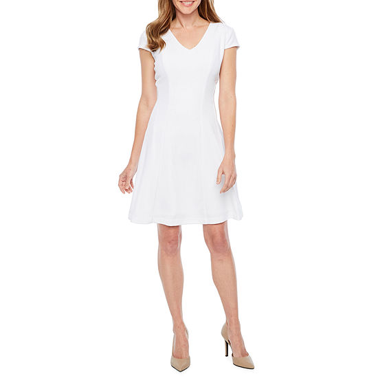 Studio 1 Short Sleeve Midi Fit & Flare Dress