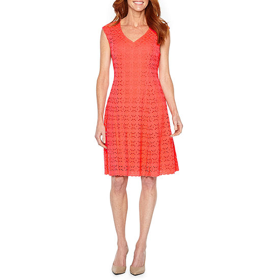 Liz Claiborne Sleeveless Lace Fit & Flare Dress