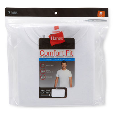Hanes Comfort Flex Fit 3-pc. Short Sleeve Crew Neck T-Shirt