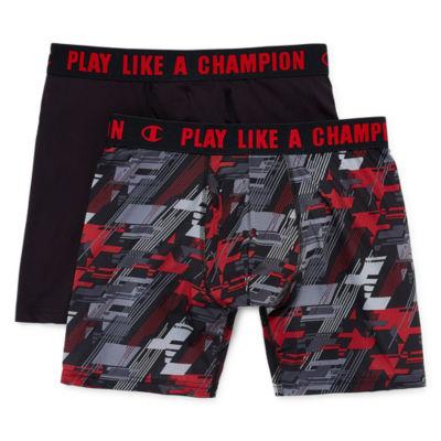 Champion 2 Pair Ultra Lightweight Boxer Briefs