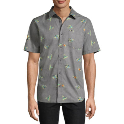 Vans Mens Short Sleeve Button-Front Shirt