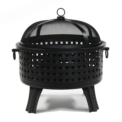 ALEKO Steel Fire Pit with Log Grate Lid Poker