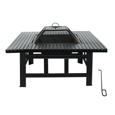 ALEKO Steel Table Top Fire Pit Kit with Flame Retardant Lid and Poker