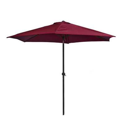 ALEKO Adjustable Waterproof Polyester Garden Patio Steel Umbrella