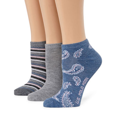 Us Polo Assn. 3 Pair Low Cut Socks - Womens