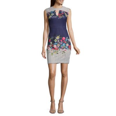 Weslee Rose Sleeveless Scuba Dress