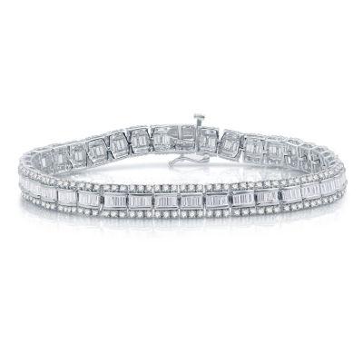 5 CT. T.W. White Diamond 10K White Gold Tennis Bracelet