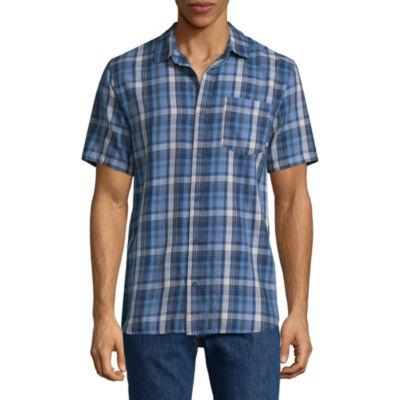 Vans Mens Short Sleeve Button-Front Shirt