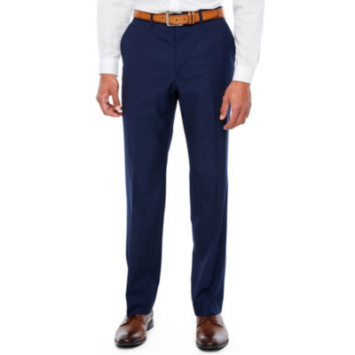 JF J.Ferrar Blue Stretch Pulse Slim Fit Suit Pants