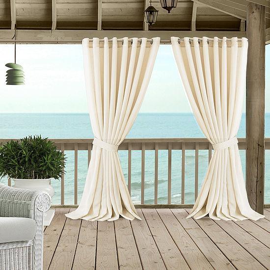 Elrene Carmen Sheer Extra Wide Indoor/Outdoor Window Panels Sheer Grommet-Top Curtain Panel