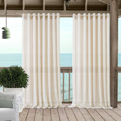 Elrene Carmen Sheer Extra Wide Indoor/Outdoor Window Panels Grommet-Top Curtain Panel