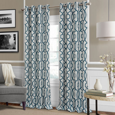 Elrene Celeste Blackout Window Panels Blackout Grommet-Top Curtain Panel