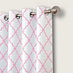 Elrene Candice Trellis Blackout Grommet-Top Single Curtain Panel