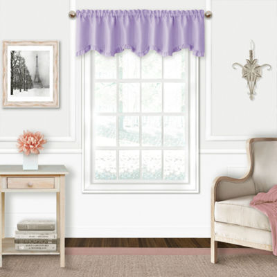 Adaline Ruffled Window Valance Rod-Pocket Scallop Valance