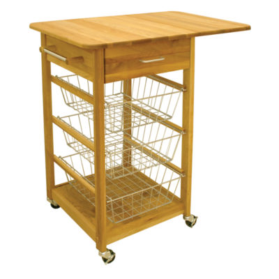 Single Drop Leaf Basket Cart