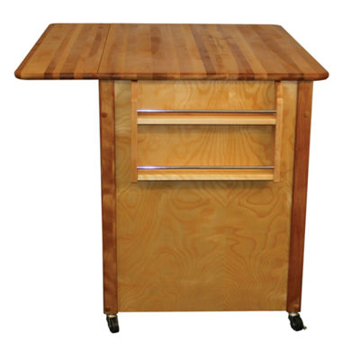 Butcher Block Island with Drop Leaf