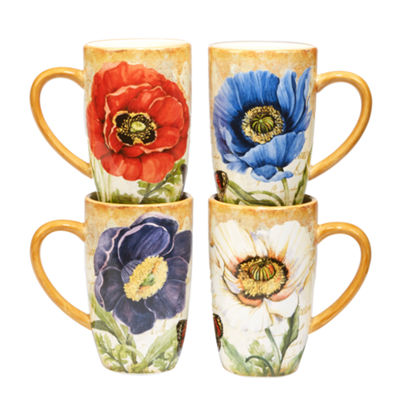 Certified International Poppy Garden 4-pc. Coffee Mug