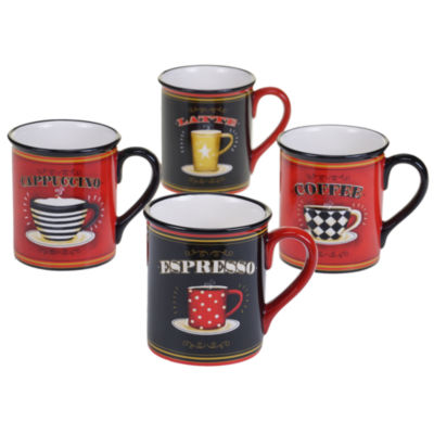 Certified International Coffee Always 4-pc. Coffee Mug