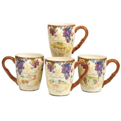 Certified International Vino 4-pc. Coffee Mug