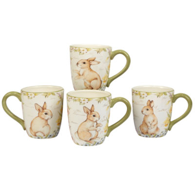 Certified International Bunny Patch 4-pc. Coffee Mug