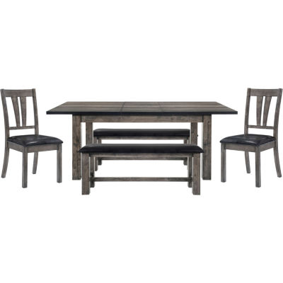 Drexel 5-pc. Set Dining with 2 Side Chairs and 2 Benches