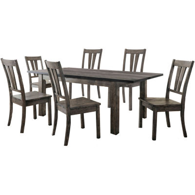 Drexel 7-pc. Dining Set with 6 Wooden Chairs