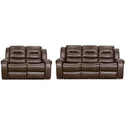 Clark 2-Piece Sofa and Loveseat Set