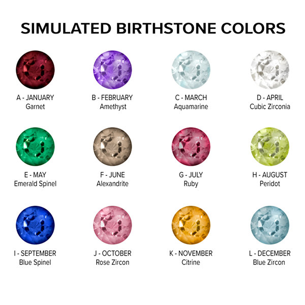 Artcarved Personalized Womens Simulated Multi Color Stone Sterling Silver Cocktail Ring