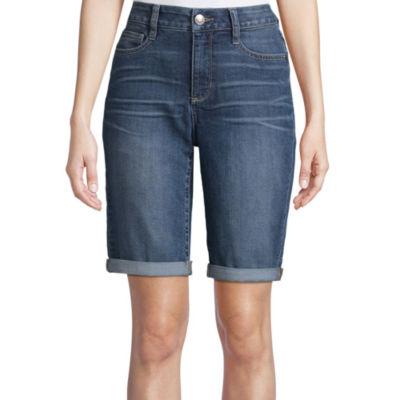 """St. John's Bay 11"""" Denim Bermuda Shorts"""
