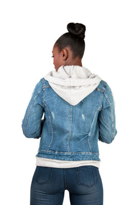 Poetic Justice Denim Hoodie Jacket