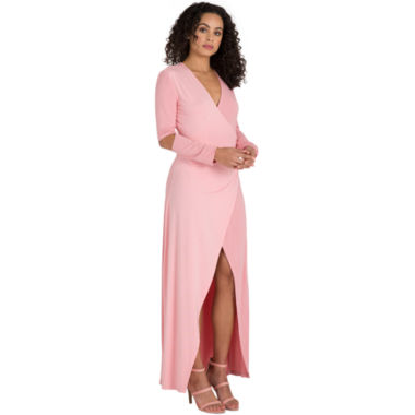 Poetic Justice Rosa Maxi Wrap Dress