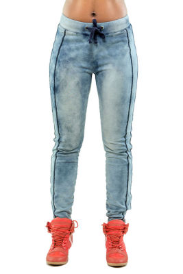 Poetic Justice Indigo French Terry Knit Jogger Pant