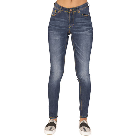 Poetic Justice Chanelle Womens Mid Rise Skinny Fit Jean