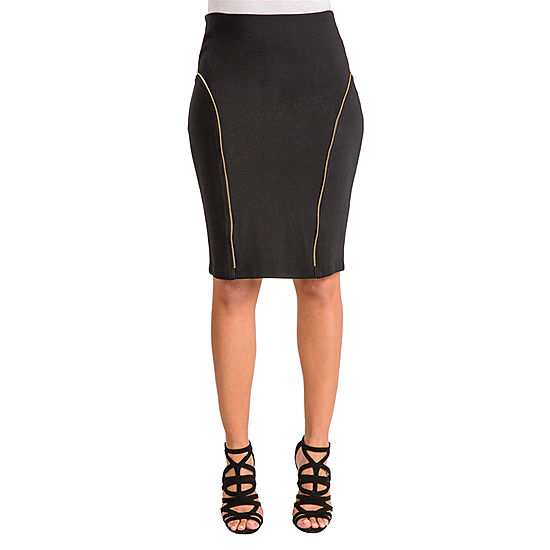 e8e7143cd6 Poetic Justice Ponte Pencil Skirt - JCPenney