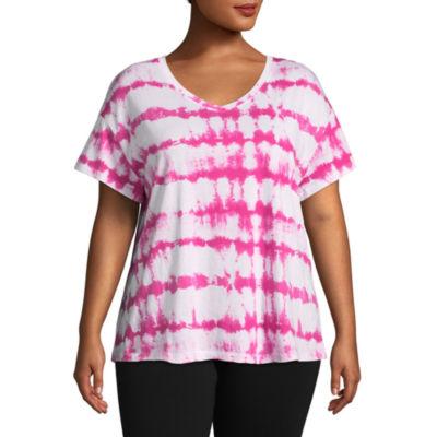 St. John's Bay Active® Short Sleeve V-Neck Tee - Plus