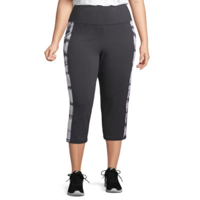 St. John's Bay Active® Secretly Slender Leggings Capri with Pockets - Plus