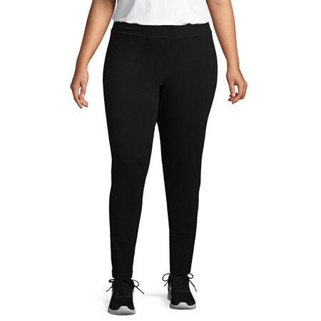 St. John's Bay Plus Secretly Slender Womens Mid Rise Full Length Leggings, 0x , Black