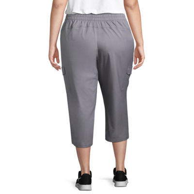 St. John's Bay Active® Cargo Capri - Plus