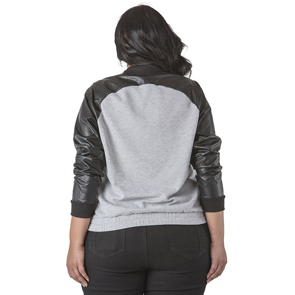 Poetic Justice French Terry Bomber Jacket - Plus