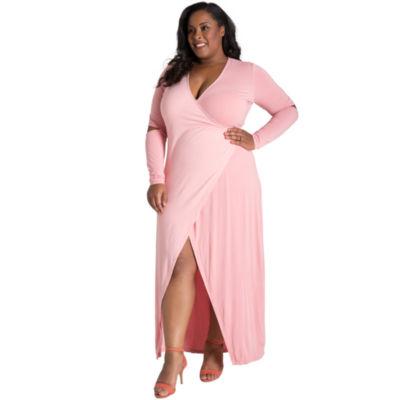 Poetic Justice Rosa Maxi Wrap Dress - Plus