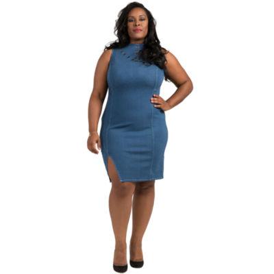 Poetic Justice Tinder Sleeveless Bodycon Dress - Plus
