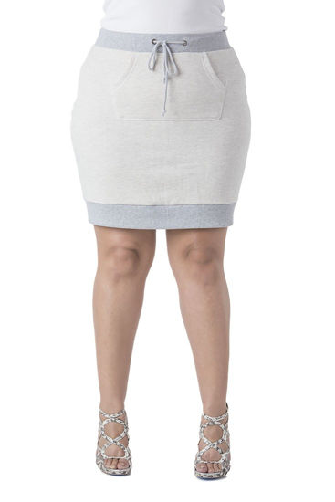 Poetic Justice French Terry Knit Skirt - Plus