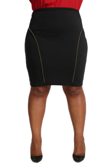 Poetic Justice Ponte Pencil Skirt - Plus