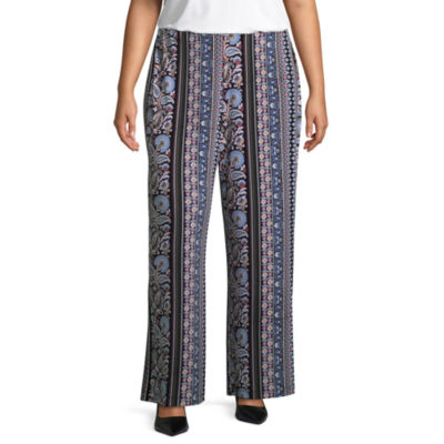 Liz Claiborne Wide Leg Pull-On Pants- Plus