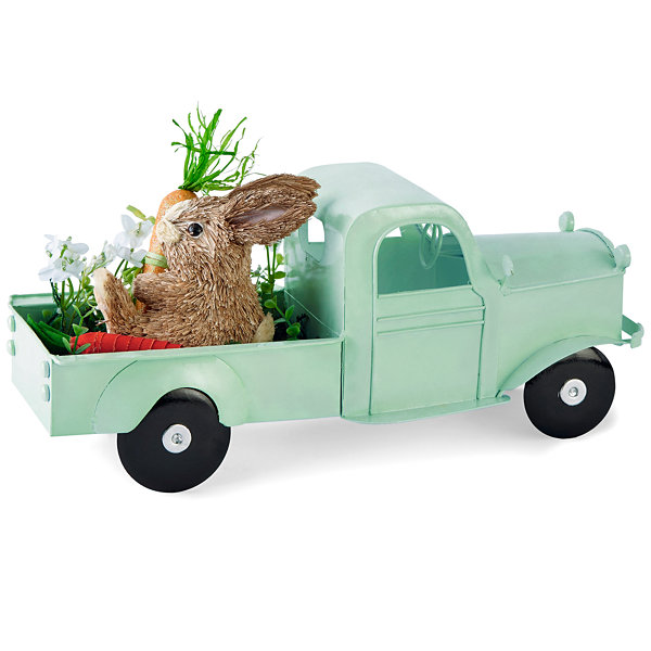 JCPenney Home Easter Metal Truck Tabletop Decor