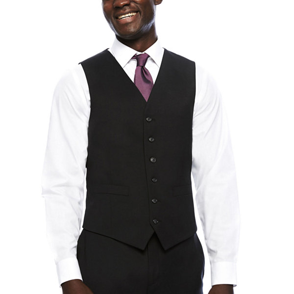 Stafford Travel Charcoal Mens Classic Fit Suit Vest