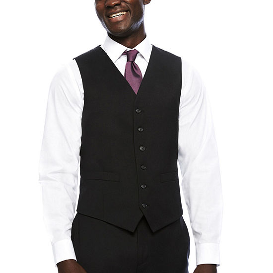 Stafford Travel Charcoal Classic Fit Suit Vest