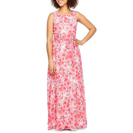 R & K Originals Sleeveless Floral Maxi Dress