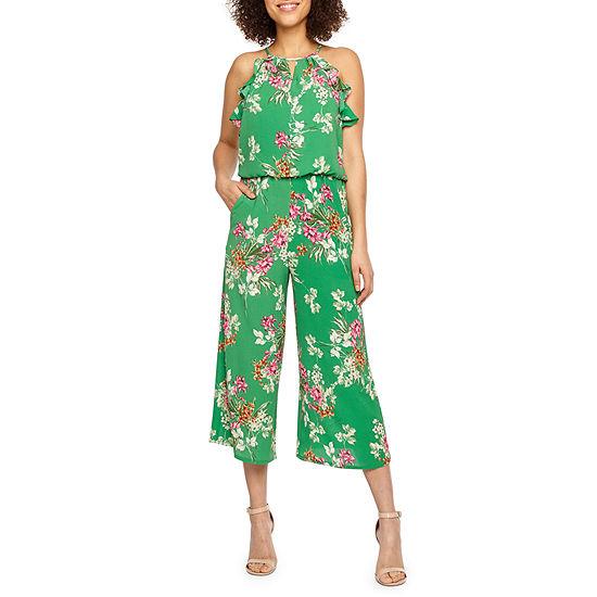 London Style Sleeveless Floral Jumpsuit