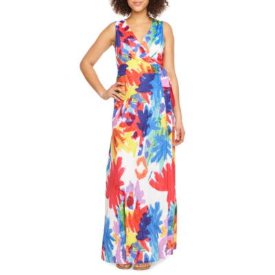 Ronni Nicole Sleeveless Abstract Maxi Dress
